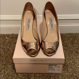 Gorgeous Jimmy Choo peep toe  heels